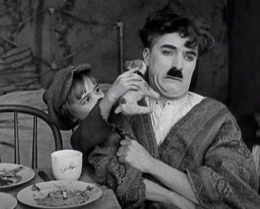 Charlie Chaplin and a Kid - Pancake Scene