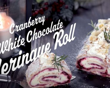 Cranberry White Chocolate Meringue Roll - Cooking Tutorial