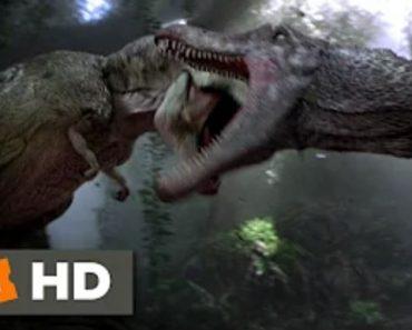 T-Rex vs spinosaurus in Jurassic Park 3 (3.10) Movie CLIP