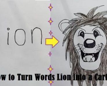 How to draw a cartoon Lion Easy