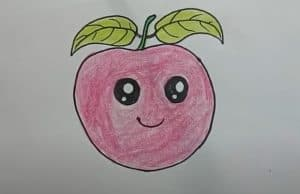 How to Draw a cute Apple