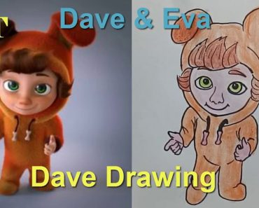 How to draw Dave From Dave and Eva