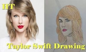 How to draw Taylor Swift easy