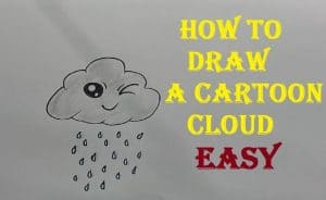 How to draw a Cloud Cute and easy