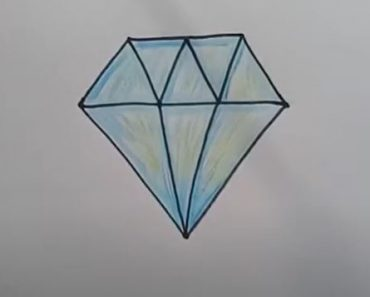 How to draw a Diamond easy Step by Step