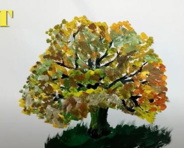 How to paint a tree easy