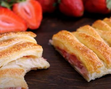 Strawberry Puff Pastry Braid