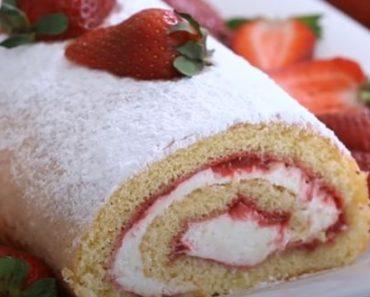 Strawberry Swiss Roll