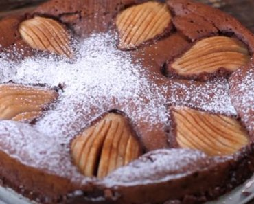 Almond Chocolate Pear Cake