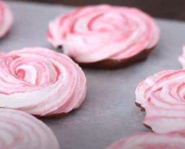 Chocolate Meringue Roses Recipe