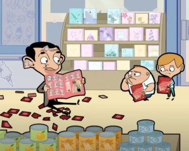 Mr Bean and Stick It - Funny mr bean cartoon for kids